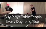 Codzienna gra w ping ponga przez 1 rok