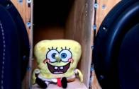 Spongebob ruszający  się do basu
