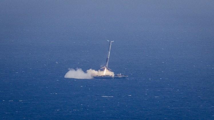 Nieudane lądowanie rakiety Falcon-9